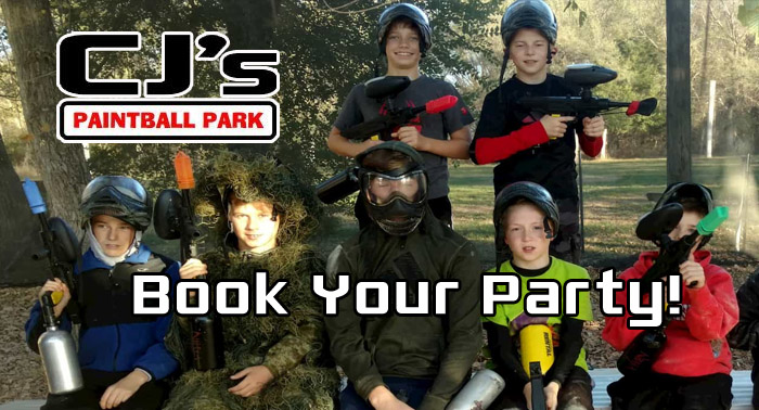 Book your Paintball Party at CJ's in Nebraska